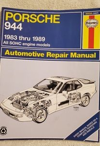 Vtg Porsche 944 Automotive Repair Manual Book